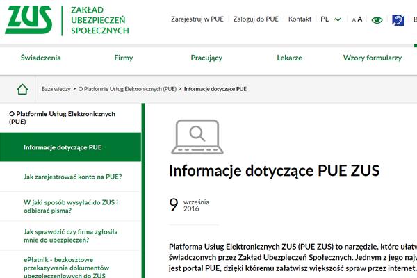 Zaległości w zus sprawdzisz online na platformie PUE